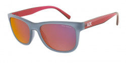 Armani Exchange AX 4103 S  83276Q  MATTE BLUE mirror red