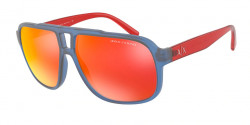 Armani Exchange AX 4104 S  83276Q  MATTE BLUE mirror red