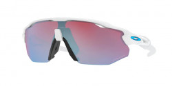 Oakley OO 9442 RADAR EV ADVANCER 944210  POLISHED WHITE prizm snow sapphire iridium