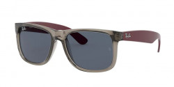 Ray-Ban RB 4165 JUSTIN 650987  RUBBER TRANSPARENT GREY dark grey