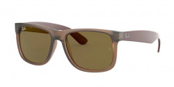 Ray-Ban RB 4165 JUSTIN 651073  RUBBER TRANSPARENT LIGHT BROWN dark brown