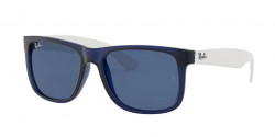 Ray-Ban RB 4165 JUSTIN 651180  RUBBER TRANSPARENT BLUE  dark blue