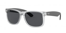 Ray-Ban RB 4165 JUSTIN 651287  RUBBER TRANSPARENT dark grey