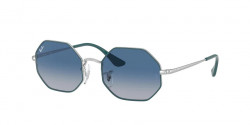 Ray-Ban RJ 9549 S junior 284/4L  TURQUOISE ON SILVER light grey gradient dark blue