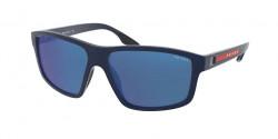 Prada PS 02 XS  TFY08H  BLUE RUBBER  blue mirror blue