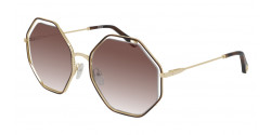 Chloe CH 0046 S  001 HAVANA/GOLD brown gradient