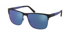 Polo Ralph Lauren PH 3128  939955  MATTE BLACK ON MATTE ROYAL mirror blue
