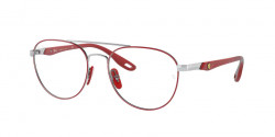 Ray-Ban RB 6473 M SCUDERIA FERRARI COLLECTION F067  RED ON SILVER