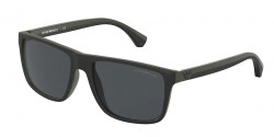 Emporio Armani EA 4033  586587  BLACK/GREEN RUBBER grey