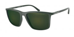 Emporio Armani EA 4161  50586R  MATTE GREEN light green mirror petrol