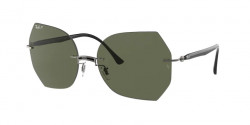 Ray-Ban RB 8065  004/9A  BLACK ON GUN METAL dark green polar