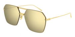 Bottega Veneta BV 1045 S  002 GOLD double mirror gold