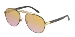 Dolce&Gabbana DG 2235   02/A7  GOLD brown mirror silver grad gold