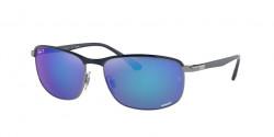 Ray-Ban RB 3671 CH - 92044L  BLUE ON GUNMETAL polar grey mirror blue