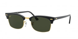 Ray-Ban RB 3916 CLUBMASTER SQUARE - 130331  BLACK g-15 green
