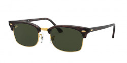 Ray-Ban RB 3916 CLUBMASTER SQUARE - 130431  MOCK TORTOISE g-15 green