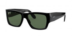 Ray-Ban RB 2187 WAYFARER NOMAD - 901/58  BLACK  g-15 green polar
