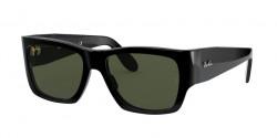 Ray-Ban RB 2187 WAYFARER NOMAD - 901/31  BLACK g-15 green