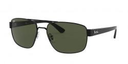 Ray-Ban RB 3663 - 002/31  BLACK g-15 green