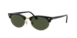 Ray-Ban RB 3946 CLUBMASTER OVAL - 130331  BLACK g-15 green