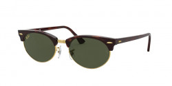 Ray-Ban RB 3946 CLUBMASTER OVAL - 130431  MOCK TORTOISE g-15 green