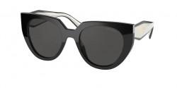 Prada PR 14 WS - 09Q5S0  BLACK/TALC dark grey