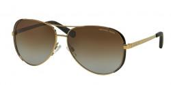 Michael Kors MK 5004 CHELSEA 1014T5 GOLD/DK CHOCOLATE BROWN brown gradient polarized