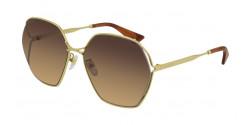 Gucci GG 0818 SA - 002 GOLD brown