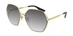 Gucci GG 0818 SA - 005 GOLD grey gradient
