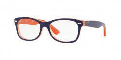 Ray-Ban Junior RY 1528 3762  ORANGE TRASP ON TOP BLUE