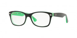 Ray-Ban Junior RY 1528 3764  GREEN TRASP ON TOP BLACK