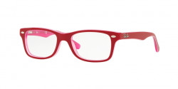 Ray-Ban Junior RY 1531 3761  PINK TRASPARENT ON TOP BORDEAU