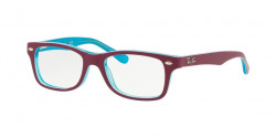 Ray-Ban Junior RY 1531 3763  AZURE TRASPARENT TOP ON FUXIA