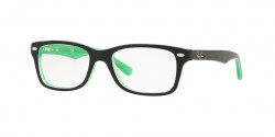Ray-Ban Junior RY 1531 3764  GREEN TRASPARENT ON TOP BLACK