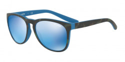 Arnette AN 4227 GO TIME 239355 MATTE GREEN HAVANA ON BLUE blue mirror blue