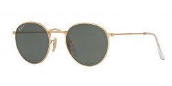 Ray-Ban RB 3447 ROUND METAL 112/58  MATTE GOLD,  polar green