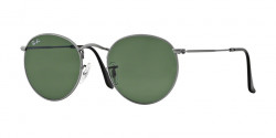 Ray-Ban RB 3447 ROUND METAL 029  MATTE GUNMETAL, crystal green