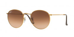 Ray-Ban RB 3447 ROUND METAL 9001A5  SHINY LIGHT BRONZE, pink gradient brown