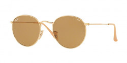 Ray-Ban RB 3447 ROUND METAL 90644I  GOLD photo brown