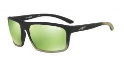 Arnette AN 4229 SANDBANK 24258N  BLACK GRAD SHOT GREEN, light green mirror green