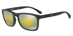 Arnette AN 4236 BURNSIDE 01/8N  MATTE BLACK, mirror green gold