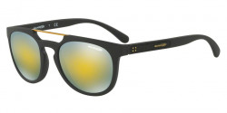 Arnette AN 4237 WOODWARD 01/8N  MATTE BLACK, mirror green gold