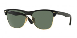 Ray-Ban RB 4175 CLUBMASTER OVERSIZED 877  DEMI SHINY BLACK/ARISTA crystal green
