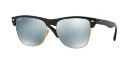 Ray-Ban RB 4175 CLUBMASTER OVERSIZED 877/30  DEMI SHINY BLACK  light green mirror silver