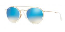 Ray-Ban RB 3647 N 001/4O  GOLD, gradient brown mirror blue