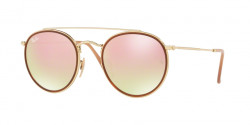 Ray-Ban RB 3647 N 001/7O  GOLD, gradient brown mirror pink