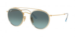 Ray-Ban RB 3647 N 91233M  GOLD  blue gradient grey