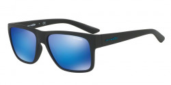 Arnette AN 4226 RESERVE 01/25  MATTE BLACK, green mirror light blue