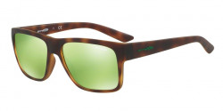 Arnette AN 4226 RESERVE 21528N  HAVANA RUBBER,  light green mirror green