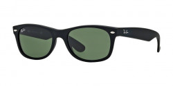 Ray-Ban RB 2132 NEW WAYFARER 622  BLACK RUBB crystal green